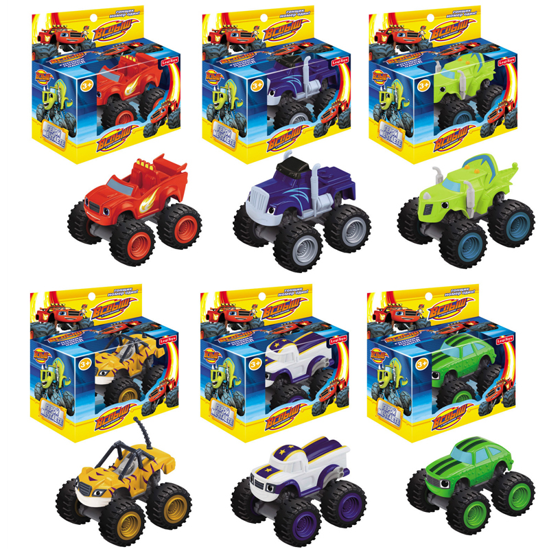 6PCS Blaze Monster Machines Russia PICKLE STRIPES Crusher DARRINGTON Zeg Blaze Miracle Cars Kid Toys Vehicle Car Toys(China (Mainland))