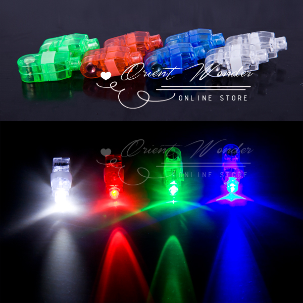 2000pcs/lot DHL Free shipping,4 color LED finger light,Leaser finger lamp,chrismas nightlight,flashing children toy, party toy(China (Mainland))