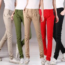 2014 New Women Fashion Pure Button Baggy Pants Khaki Fold Trousers Harem Pants Hip Hop Casual Sweatpants Cargo Pants(China (Mainland))