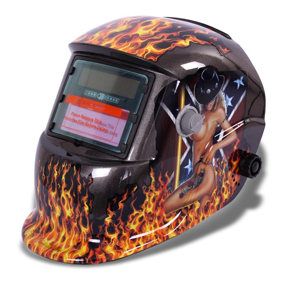 2015 good girl pro Solar Auto Darkening Welding Helmet Arc Tig mig certified mask grinding new(China (Mainland))