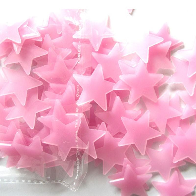 100Pcs-3D-Glow-Stickers-Luminous-stars-Baby-Bedroom-Beautiful-Fluorescent-In-The-Dark-Toy--Festival-TD0056 (2)