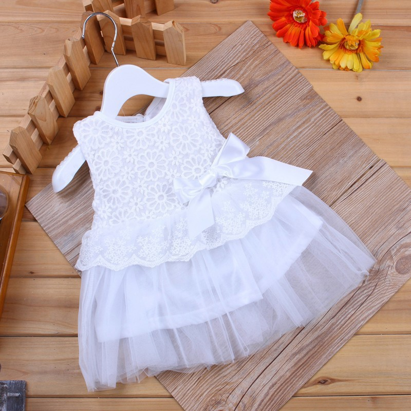 Hot sale newborn baby girl dresses 2015 summer lace flower cute baby dress party birthday candy colors infant princess dress(China (Mainland))