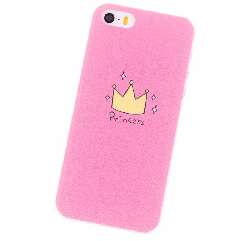 Phone Cases for iPhone 5S Case i5 Se Housing Pink Princess Cover mobile phone bags & cases Brand New Glass Screen Protector(China (Mainland))