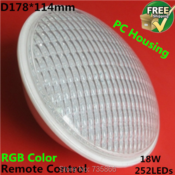 RGB Par56 LED Swimming Pool Lights IP68 Waterproof Underwater Light 252LEDs 18W - Shenzhen Bright Opto Co., Limited store