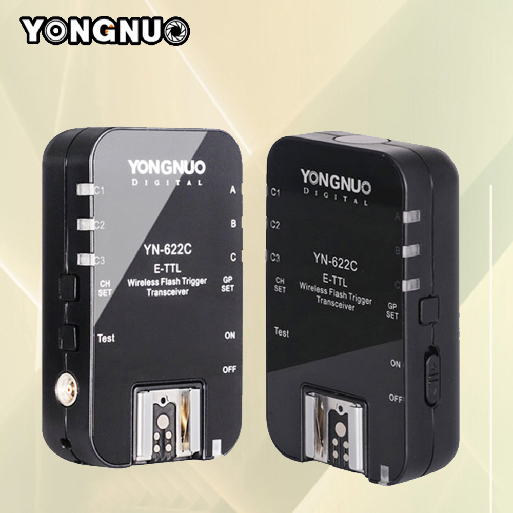 Yongnuo YN-622C YN622C Wireless ETTL Flash Trigger Receiver Transceiver For Canon 70d 6d 650d 1100d 550d 60d 600d High Quality(China (Mainland))
