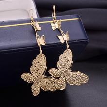Multi level Butterfly Fashionable Frosted Earrings Beauty Animal Dangle Earrings Bridal Fashion Jewelry Nice