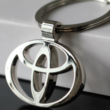 2016 llaveros Car Styling car-covers 3D Metal Key Ring Stainless Steel Keychain Good Quality Key Organizer For Toyota Wholesale(China (Mainland))