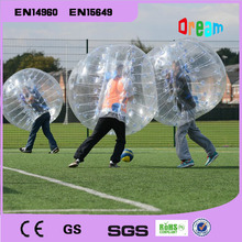 Bubble football 1.5m diamter 0.8mm PVC inflatable soccer ball/bubble ball/human hamster ball(China (Mainland))