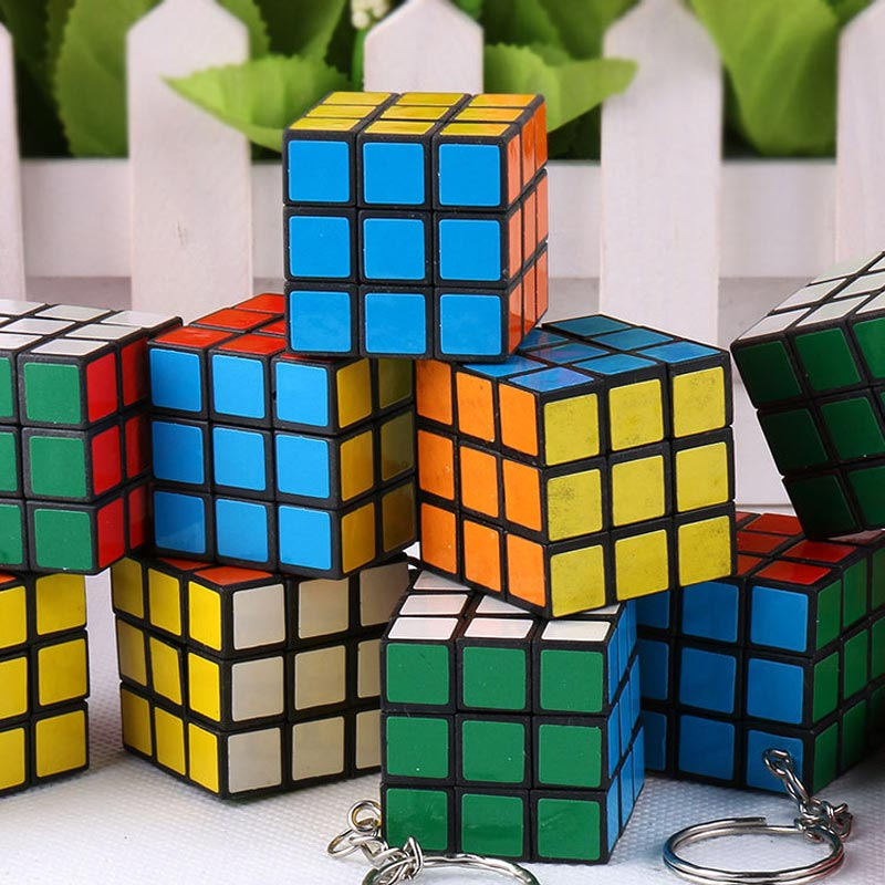 Magic Cube - FREE SHIPPING New Design Interesting Puzzle Keychain Rubik's Cube Phone Pendant Korean Mini Cube Pendant #1774983(China (Mainland))