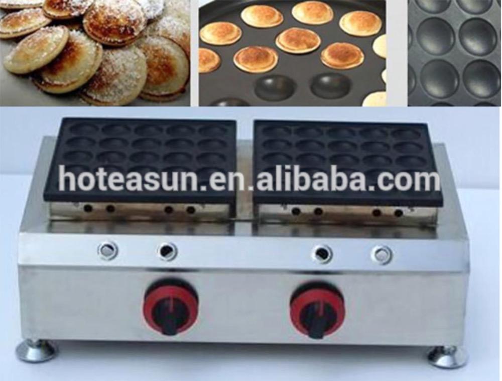 50pcs Commercial Use Non-stick LPG Gas Poffertjes Mini Dutch Pancakes Baker Maker Iron Machine<br>