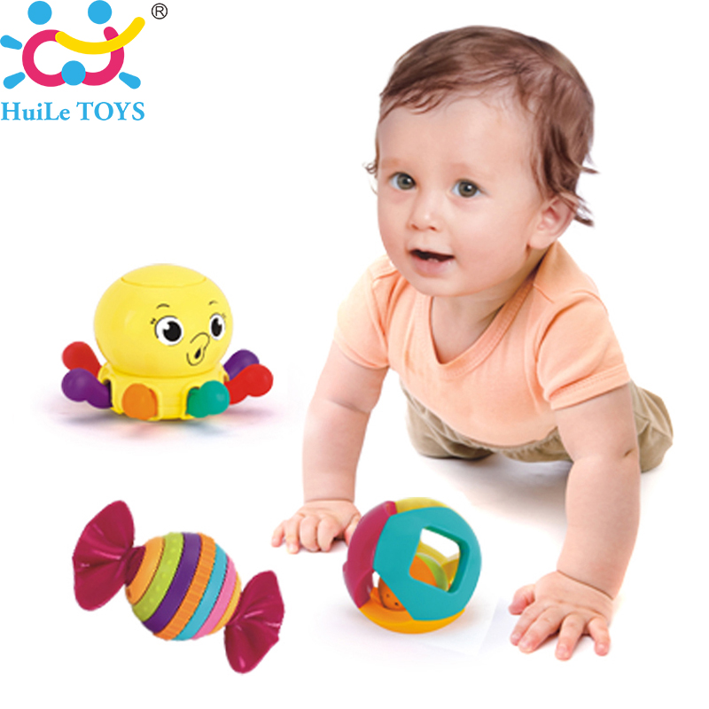 Wholesale 3PC Baby Toy Baby Rattles with Ring Bell Cute Cartoon Animal Newborn Baby Gifts Early Educational Toys Huile Toys Gift(China (Mainland))