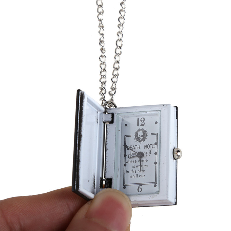 Free Shipping High Quality Vintage Classic Fashion Watch Death Note Book Quartz Pocket Watch Pendant Necklace