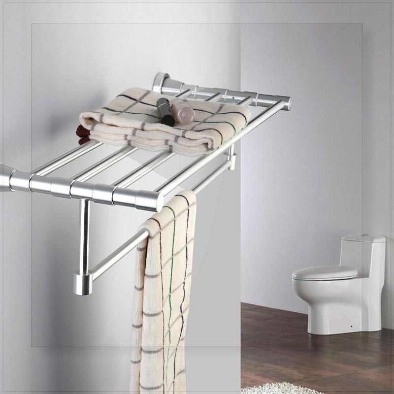 Space aluminum towel rack bathroom hardware towel rack classic towel bar shelf torneiras banho e cozinha water valve bathroom fa(China (Mainland))