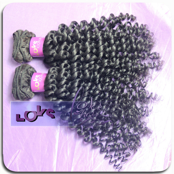 7A Virgin Peruvian Kinky Curly Hair 2pcs lot Full Cuticles Human Hair Weave in Color 1b,100g/bundle Double Sewing Hair Weaving<br><br>Aliexpress