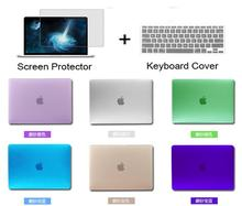 3in1 Clear protective Case cover + keyboard + film For Mac book Air 11.6 13.3 Pro 13 15 Pro Retina 12 inch Protector For Macbook(China (Mainland))