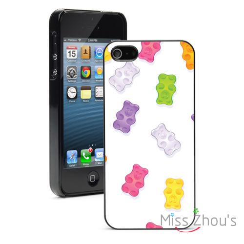 Gummy Bears Pattern Protector back skins mobile font b cellphone b font cases for iphone 4