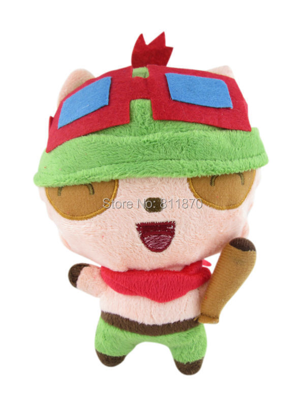 Free Shipping Cosplay Teemo The Swift Scout 20cm/7.9'' Lovely Plush Dools Stuffed Toys(China (Mainland))
