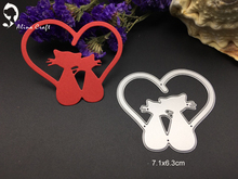 Buy Metal cutting dies love couple cat sweet heart animal album card Scrapbook album embossing stencil paper craft punch cutter for $2.85 in AliExpress store