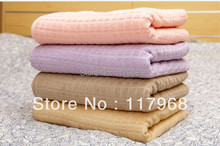 100% Cotton Skin-Kindly Comfortable Full Size Summer Blankets/Quilts, Breathable Multiple-Use Super Soft Travel Blankets(China (Mainland))