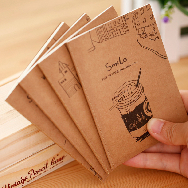 4 PC/LOT Kraft-cover Vintage 20-Page Notebook(China (Mainland))