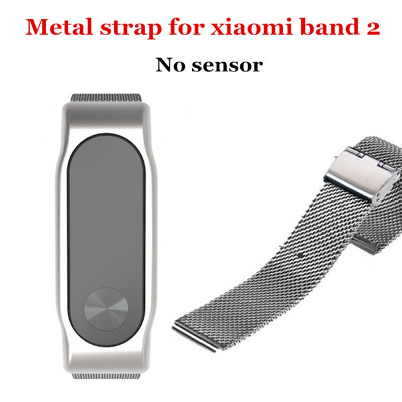 Replace Accessories Stainless Steel Bracelet Strap for Xiamo Mi MiBand 2 Bracelet Touchpad OLED Screen Fitness Wristbands