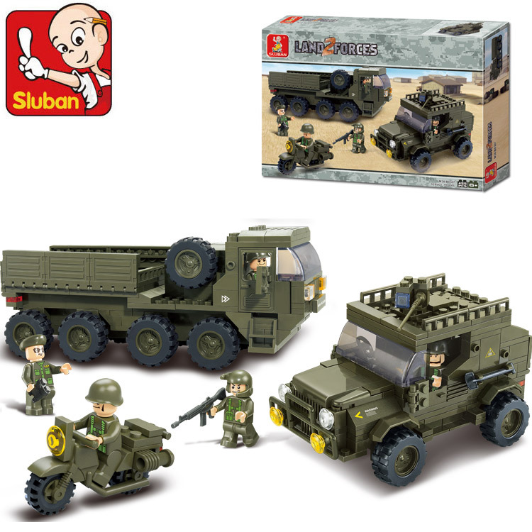 Sluban B0307 Army armored vehicles Jeep Motorcycles 3D Construction Plastic Model Building Blocks Bricks Compatible With Lego<br><br>Aliexpress