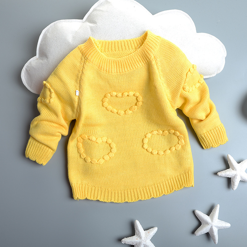 Children Fall 2015 Children - Pure GIRLS CROCHET Sweater Factory Direct Heart<br><br>Aliexpress