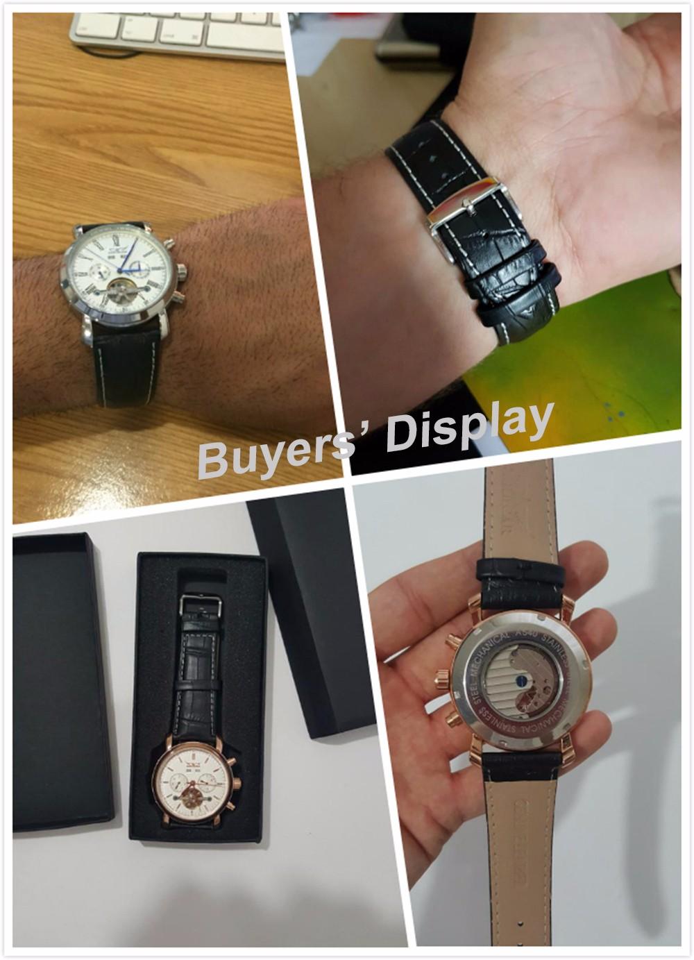 JARAGAR Большой Циферблат Полный Календарь мужские Часы Кожаный Ремешок Механические Наручные Часы Мужской Часы Relojes Hombre