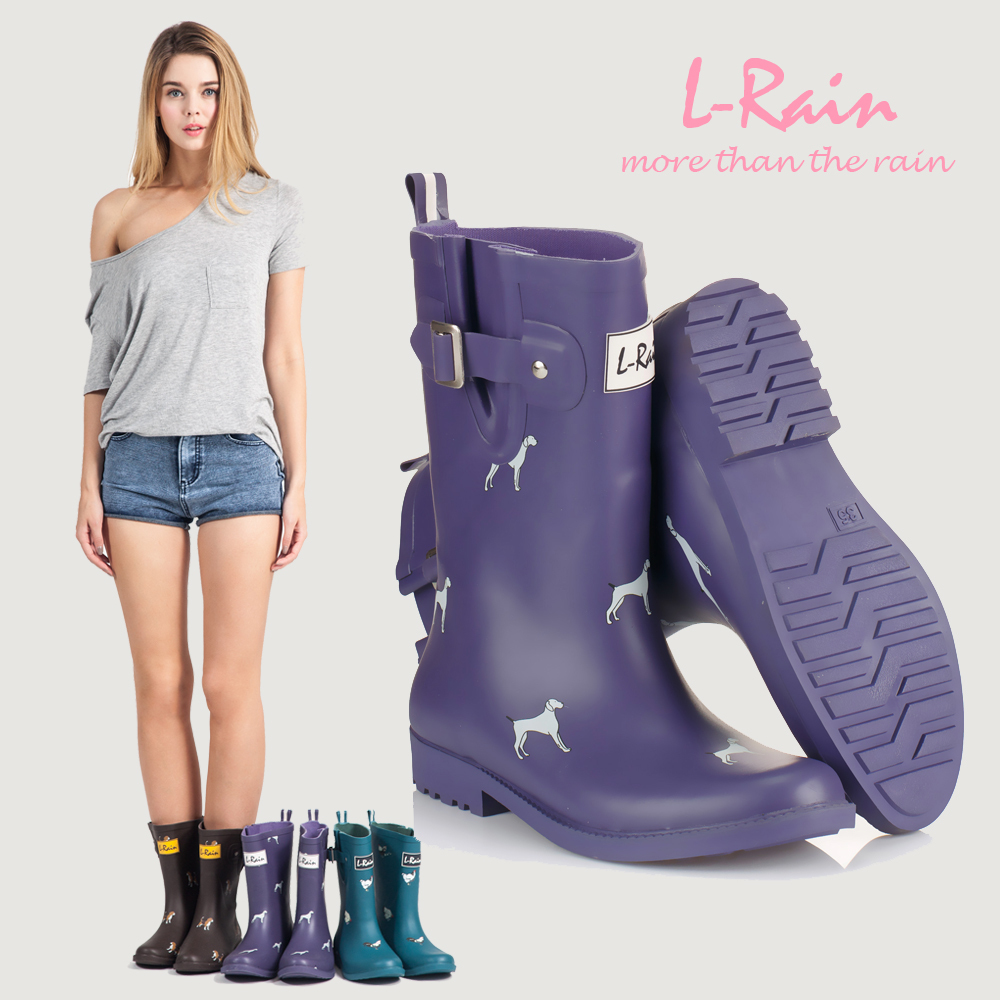 Ladies Fashion Rain Boots - Boot Hto