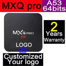 1 unids MXQpro S905 A53 64 bits procesador Amlogic 4 K 3D 1 GB + 8 GB Google IPTV Android5.1 cajas de TELEVISIÓN