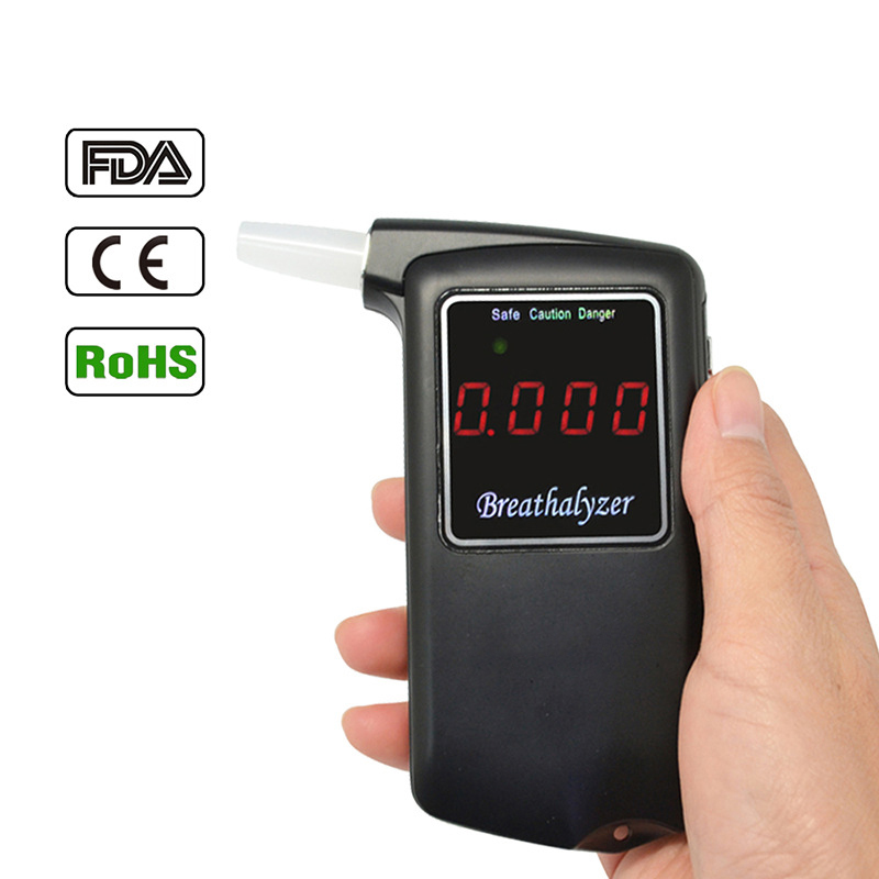 Portable Professional Police Electronic Digital Breath Alcohol Tester Breathalyzer with LCD Screen Display(China (Mainland))