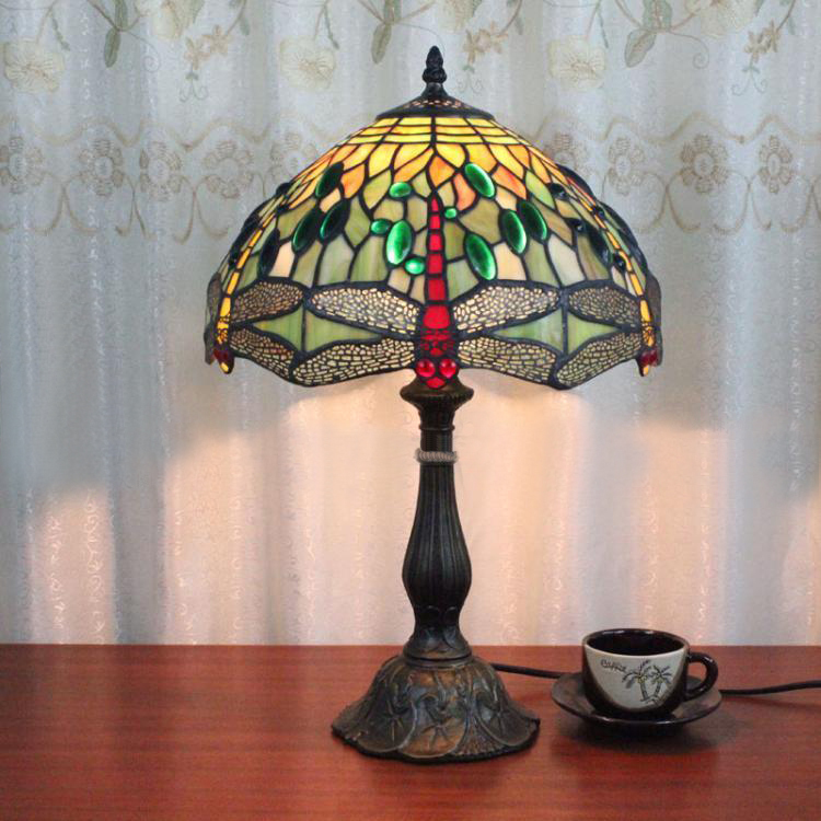 Popular Dragonfly Stained Glass Lamp Shade-Buy Cheap