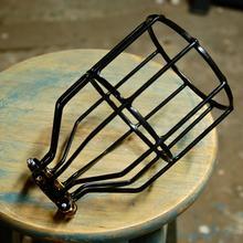 Livraison gratuite Vintage lampe industrielle garde classique noir Nordic ampoule feux de Cage à oiseaux fil de fer lampe Cage abat - jour(China (Mainland))