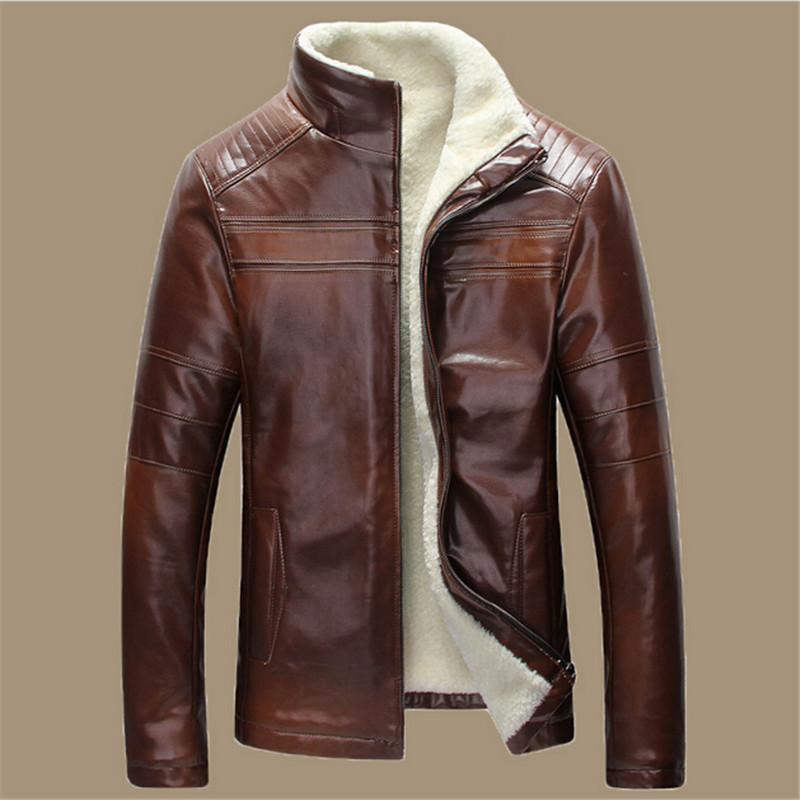 New 2016 Winter Warm Mens Genuine Leather Jacket Men Retro Brown Sheepskin Fur Coat Man Wool Liner Shearling Jackets and CoatsОдежда и ак�е��уары<br><br><br>Aliexpress