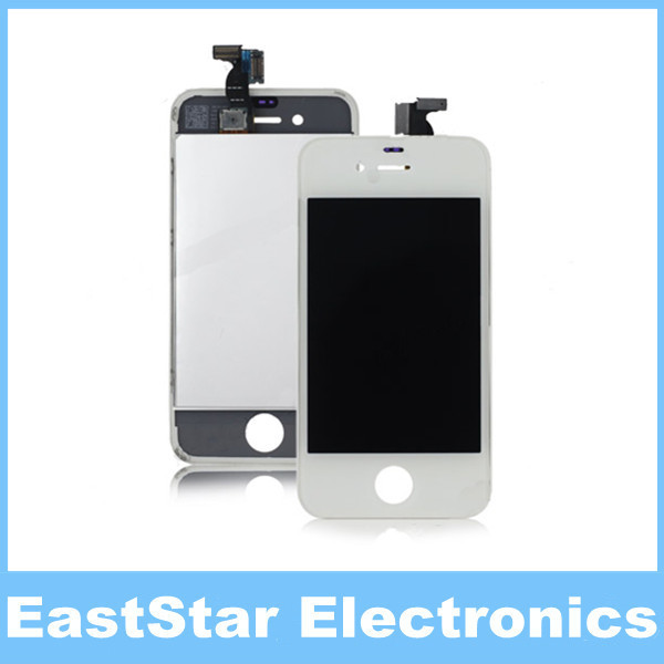 300pcs/lot,LCD Display with White Touch Screen Digitizer for iPhone 4 4G (NO DEAD PIXEL),Quality A+++,Free DHL(China (Mainland))