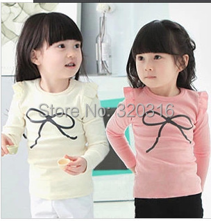 2015 Autumn style Kids Spring children's long sleeve T shirt,Cotton shirt bottoming shirt KTX18A47(China (Mainland))