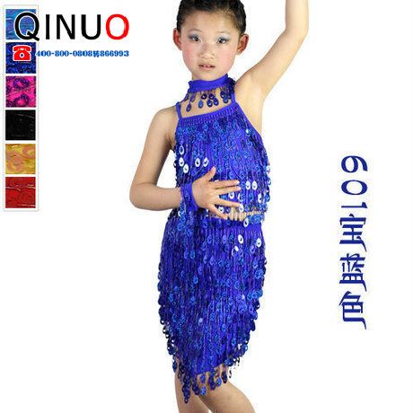 Latin dance clothes Latin dance skirt child Latin dance nagle Latin dance costume performance wear  Free Shipping