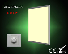 surface mounted led panel ceiling lights dc24v safty voltage 300x300 ultra slim painel 24w dimmable for indoor kitchen bedroom(China (Mainland))