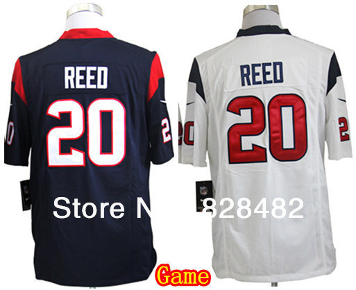 Free Shipping (epacket) #20 Ed Reed blue white Kids/Youth Football Jersey,Embroidery and Sewing Logos,Size S--XL(China (Mainland))