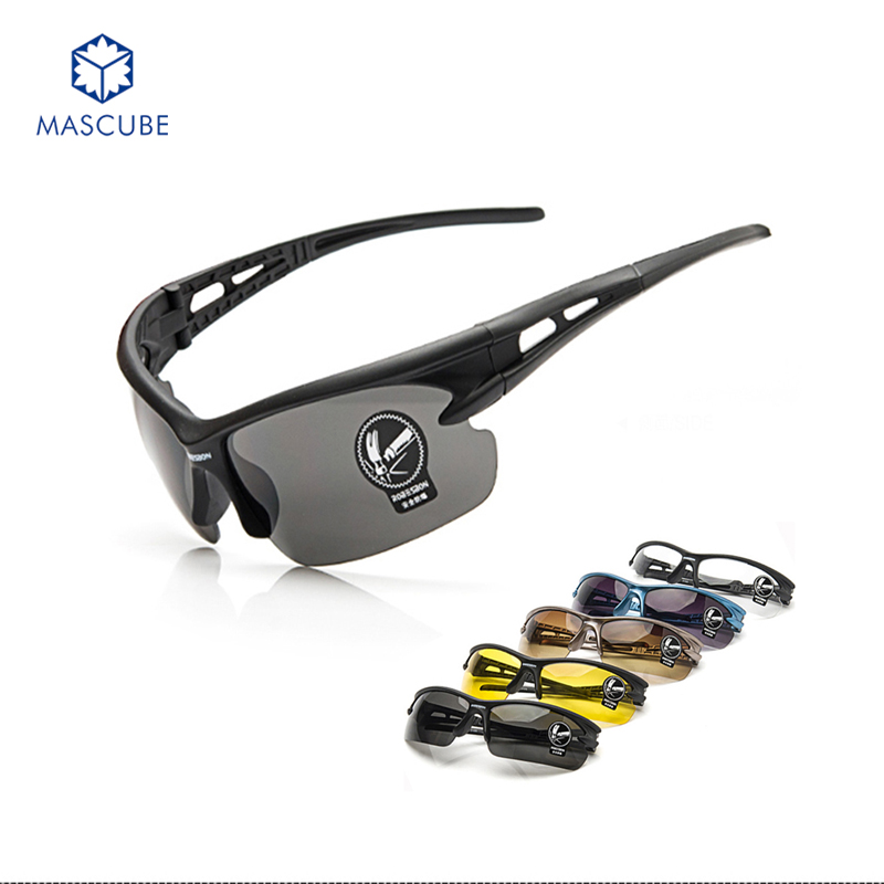 [MASCUBE]5 Colors Outdoor Sport Sunglasses UV Protection Glasses Windproof For Men Sun Glasses(China (Mainland))