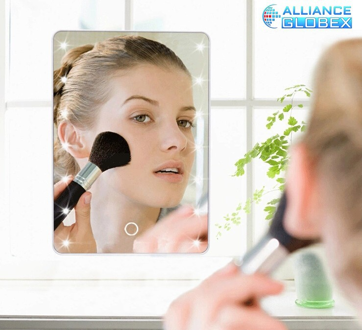 led makeup mirror cosmetic mirror with led light desktop led makeup mirror free shipping(China (Mainland))