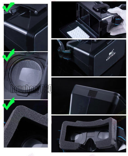 голову смонтировать пластиковые 3d видео очки виртуальной реальности для google картона