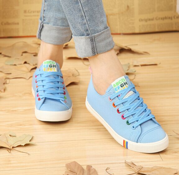 Free Shipping New Arrival  Women Canvas Shoes Fashion Sneakers Low Top Breathable Casual Shoes Size35-39<br><br>Aliexpress