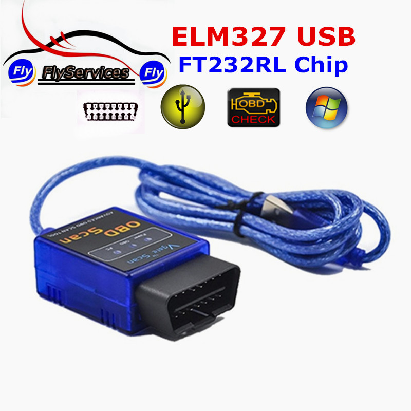 Vgate ELM327 USB With Original IMPORTED FT232RL Chip Scan Auto Code Reader OBD SCAN Car Diagnostic Tool Vgate USB ELM 327(China (Mainland))
