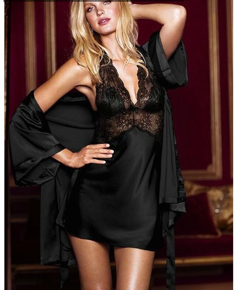 sexy satin chemise robe hot girls wallpaper. Black Bedroom Furniture Sets. Home Design Ideas