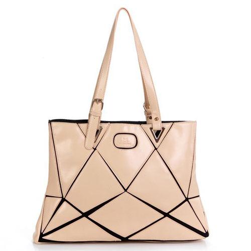Fashion PU Stitching Water Cube Satchel Ladies Handbag Shoulder Bag Women Tote Free Shipping(China (Mainland))