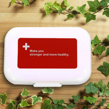 Portabe Multilayer 8 Compartment Red Moistureproof Pill Case Pill Organizer Medicine Box Drugs Pill Container Free shipping F#OS(China (Mainland))