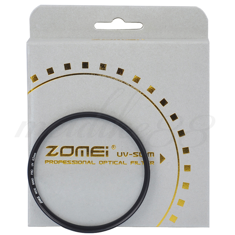 Zomei 62mm Slim UV Ultra Violet Optical Glass Lens Filter for Nikon Canon Camera Free shipping(China (Mainland))