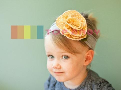 Wholesale - Crochet head band bow clip flower Crochet girls Hair bands hairpins baby hair--DYQ698A