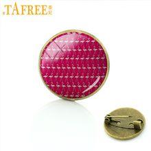 Tafree 2017 Pink Flamingo Bros Elegan Dalam Bentuk dan Indah Di Bulu Hewan Badge untuk Pria Wanita Pin Musim Panas Perhiasan a567(China)